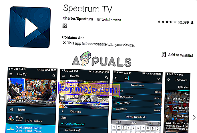 spectrum app play store android