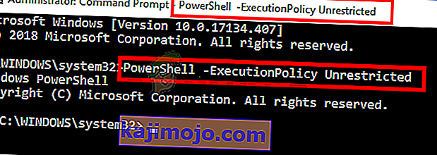 type PowerShell -ExecutionPolicy Neribota cmd