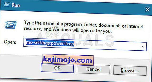 Jalankan dialog: ms-settings: powersleep